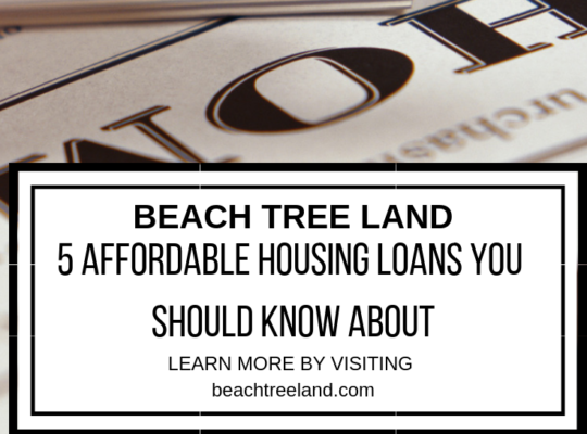 5 Affordable Housing Loans You Should Know About – Beach, Tree, Land